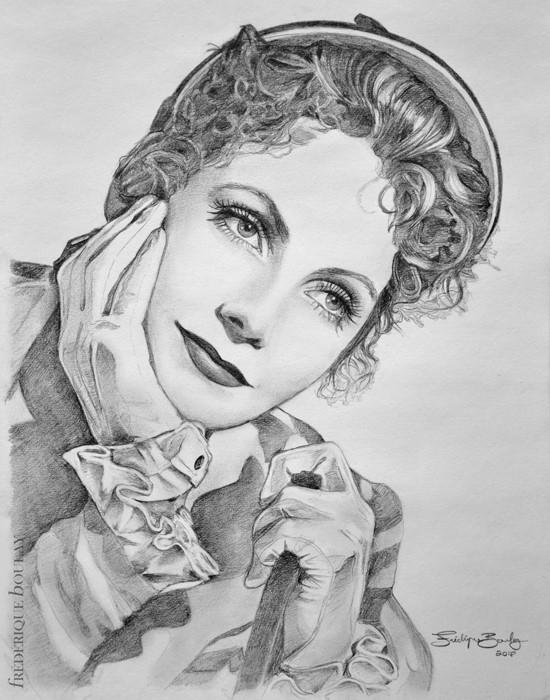 Greta Garbo by FrederiqueBoulay
